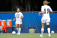 2 October 2011:  FIU's Scarlett Montoya (10) looks to pass the ball in the first half as the FIU Golden Panthers defeated the University of South Alabama Jaguars, 2-0, at University Park Stadium in Miami, Florida.