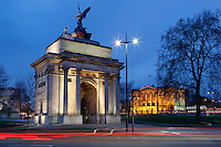 Great Britain, London: Wellington Arch and Apsley House at Hyde Park Corner | Grossbritannien, England, London: Wellington Arch und Apsley House am Hyde Park Corner