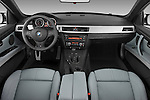 Straight dashboard view of a 2008 BMW M3 Convertible.