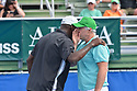 DELRAY BEACH, FL - NOVEMBER 24: Seal and Patrick McEnroe attend the 30TH Annual Chris Evert Pro-Celebrity Tennis Classic Day3 at the Delray Beach Tennis Center on November 24, 2019 in Delray Beach, Florida.  ( Photo by Johnny Louis / jlnphotography.com )