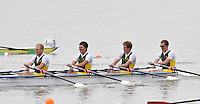 Brandenburg, GERMANY,  BLM4X- Repechage,  AUS Bow, Alister FOOT, Thomas BERTRAND, Will BREIER and Angus TYERS, 2008 FISA U23 World Rowing Championships, Friday, 18/07/2008, [Mandatory credit: Peter Spurrier Intersport Images]..... Rowing Course: Brandenburg, Havel Rowing Course, Brandenburg, GERMANY