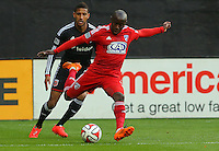 WASHINGTON, D.C - April 26 2014: D.C. United vs F.C. Dallas in an MLS match at RFK Stadium, in Washington D.C. United won 4-1.