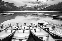 Cameron Lake at Waterton Lakes National Park in Alberta Canada