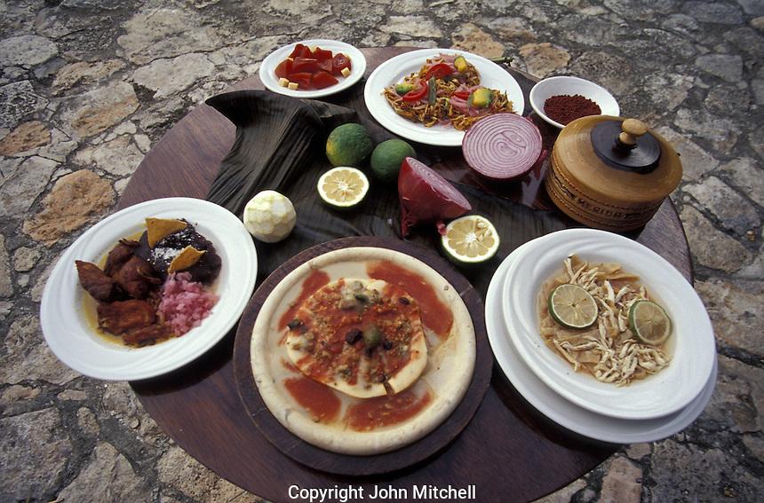 Traditional Yucatecan dishes, Hacienda Teya, Yucatan, Mexico