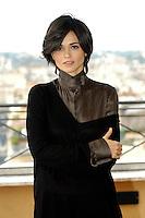 """ROMINA MONDELLO.Photocall for """"Milano-Palermo: il ritorno"""", Rome, Italy..November 15th, 2007.half length brown black top .CAP/CAV.©Luca Cavallari/Capital Pictures."""