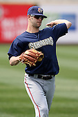 April 11, 2010:  Pitcher Aaron Thompson of the Harrisburg Senators during a game at Blair County Ballpark in Altoona, PA.  Harrisburg is the Double-A affiliate of the Washington Nationals.  Photo By Mike Janes/Four Seam Images