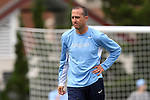 25 October 2015: Newly appointed UNC assistant coach Damon Nahas. The University of North Carolina Tar Heels hosted the Clemson University Tigers at Fetzer Field in Chapel Hill, NC in a 2015 NCAA Division I Women's Soccer game. UNC won the game 1-0.