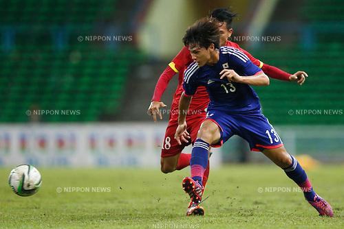 Takumi Minamino (JPN), MARCH 29, 2015 - Football / Soccer : AFC U-23 Championship 2016 Qualification Group I match between U-22 Japan 2-0 U-22 Vietnam at Shah Alam Stadium in Shah Alam, Malaysia. (Photo by Sho Tamura/AFLO SPORT)