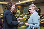 "BRUSSELS - BELGIUM - 23 November 2016 -- European Training Foundation (ETF) Conference on ""GETTING ORGANISED FOR BETTER QUALIFICATIONS"". -- Madlen Serban, Director ETF with Director Olga Oleynikova, Center for VET Studies (Russian Federation). -- PHOTO: Juha ROININEN / EUP-IMAGES"