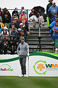 February 3rd 2019, Scottsdale, Arizona, USA;  Ollie Schniederjans waits for the fairway to clear so  that his group can start their round at the finals of the Waste Management Phoenix Open on February 3, 2019, at TPC Scottsdale in Scottsdale, Arizona.