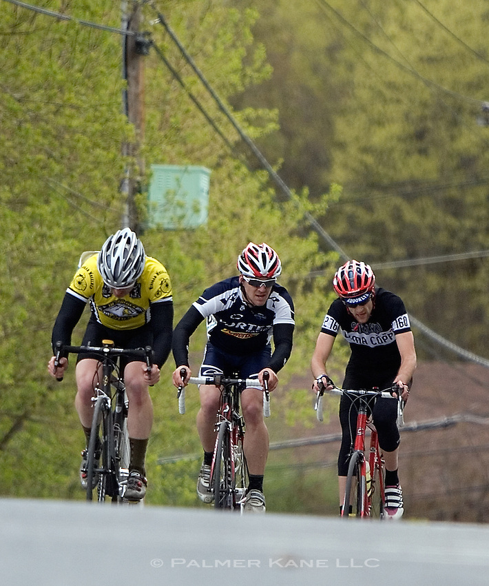 Tour of the Dragons Bike Race in Bennington, Vermont on April 30,2011