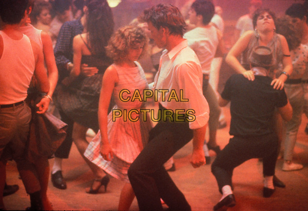 JENNIFER GREY & PATRICK SWAYZE.1952 - 2009. Actor Patrick Swayze died at the age of 57 after a 20 month battle with pancreatic cancer..in Dirty Dancing.*Filmstill - Editorial Use Only*.CAP/FB.Supplied by Capital Pictures.