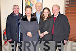 Pictured in Lord Kenmares restaurant, Killarney for the New Years Eve celebrations on Saturday night were Moss and Mary Harmon, John O'Donoghue, Mairead O'Donoghue and Mike O'Donoghue.