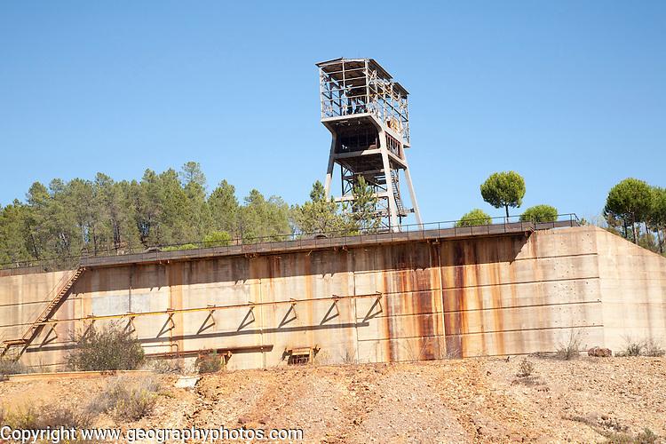 Derelict industrial buildings Minas de Riotinto mining area, Huelva province, Spain