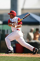 February 21, 2009:  Second baseman Gino Matias (5) of St. John's University during the Big East-Big Ten Challenge at Jack Russell Stadium in Clearwater, FL.  Photo by:  Mike Janes/Four Seam Images