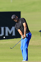 Julian Suri (USA) chips onto the 17th green during Friday's Round 2 of the 2018 Turkish Airlines Open hosted by Regnum Carya Golf &amp; Spa Resort, Antalya, Turkey. 2nd November 2018.<br /> Picture: Eoin Clarke | Golffile<br /> <br /> <br /> All photos usage must carry mandatory copyright credit (&copy; Golffile | Eoin Clarke)