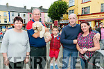 Love Listowel Marketing Group hosted a Family Fun Evening in the Square, Listowel on Sunday. Pictured were -r  Rosie Collins, David Docherty with Mazie the Dog, Cody Collins, Tony Collins and Catriona Daly