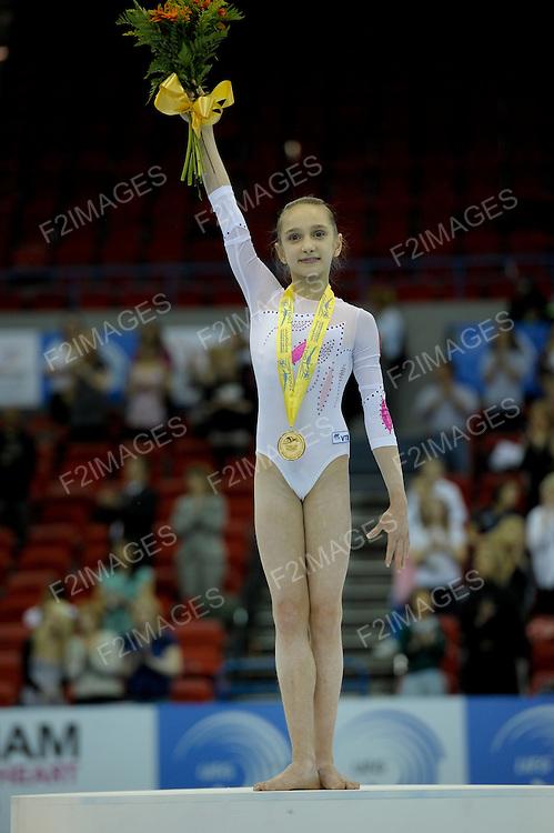 30.4.10 European Gymnastics Championships .Junior All Round Finals.KOMOVAVictoria of Russia gold medal winner.