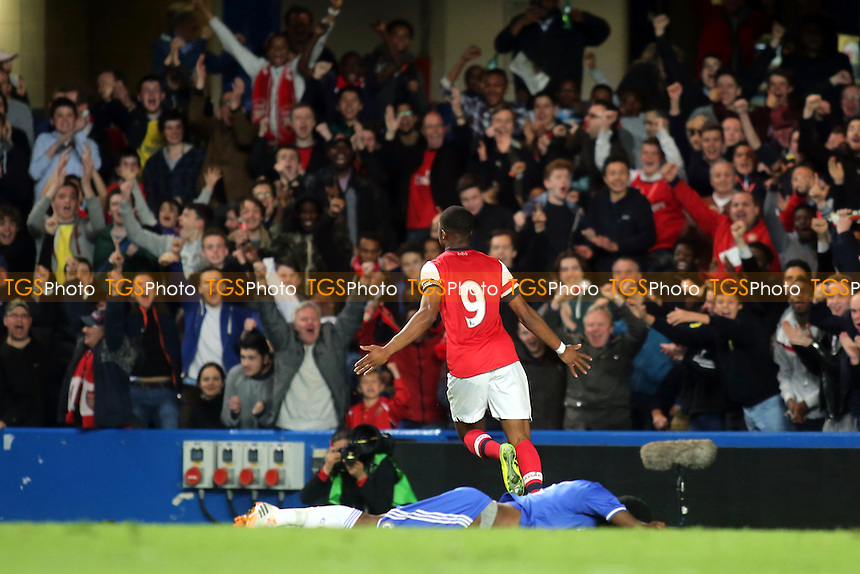 Chuba Akpom celebrates scoring Arsenal's opening goal - Chelsea Youth vs Arsenal Youth - FA Challenge Youth Cup Semi-Final 1st Leg Football at Stamford Bridge, London - 10/04/14 - MANDATORY CREDIT: Paul Dennis/TGSPHOTO - Self billing applies where appropriate - 0845 094 6026 - contact@tgsphoto.co.uk - NO UNPAID USE