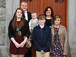 Jake Digney who was confirmed at the church of the Immaculate conception Termonfeckin pictured with his family. Photo: Colin Bell/pressphotos.ie