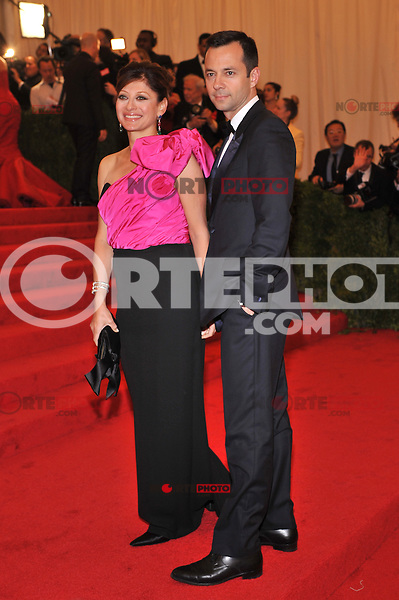 Maria Bartiromo at the 'Schiaparelli And Prada: Impossible Conversations' Costume Institute Gala at the Metropolitan Museum of Art on May 7, 2012 in New York City. © mpi03/MediaPunch Inc.