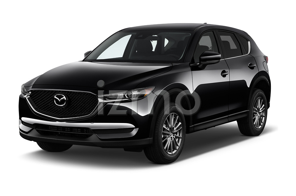 2018 Mazda CX-5 Sport 5 Door SUV angular front stock photos of front three quarter view