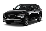 2017 Mazda CX-5 Sport 5 Door SUV angular front stock photos of front three quarter view