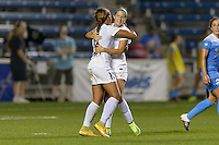 Chicago, IL - Wednesday Sept. 07, 2016: Frances Silva celebrates scoring, Shea Groom during a regular season National Women's Soccer League (NWSL) match between the Chicago Red Stars and FC Kansas City at Toyota Park.