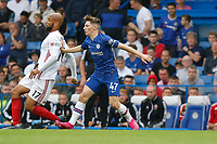 Billy Gilmour of Chelsea tacking David McGoldrick of Sheffield United during the Premier League match between Chelsea and Sheff United at Stamford Bridge, London, England on 31 August 2019. Photo by Carlton Myrie / PRiME Media Images.