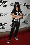 "SLASH (Saul Hudson).arrives to the Sunset Strip Music Festival's ""Tribute to Slash"" at the House of Blues Sunset Strip, in recognition of the City of West Hollywood's official 'Slash Day'.West Hollywood, CA, USA. August 26, 2010. ©CelphImage"
