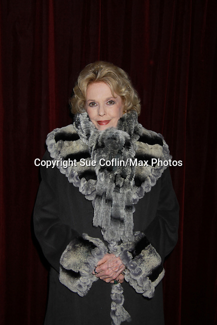 As The World Turns Eileen Fulton comes to see her castmates in Still Sassy on October 30, 2011 at Feinstein's at Loews Regency, New York City, New York.  (Photo by Sue Coflin/Max Photos)