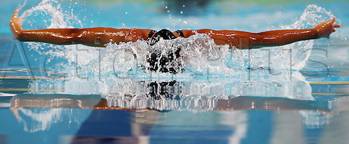 15.12.2012. Istanbul, Turkey. Felicity Passon of Seychelles competes in the women's 100m butterfly heat during the World Short Course Swimming Championships in Istanbul, Turkey, 15 December 2012.
