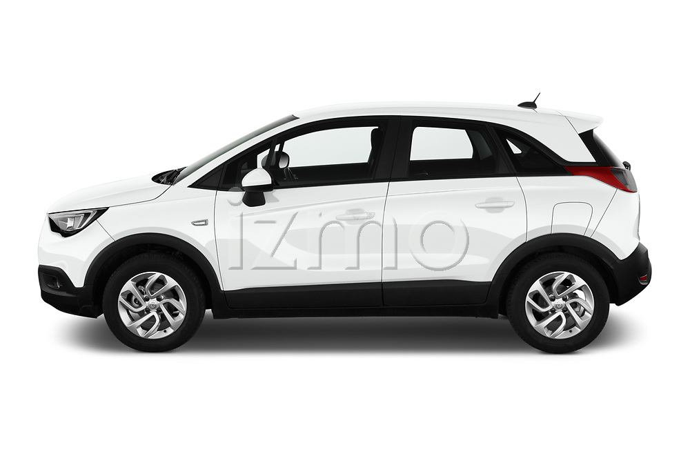 Car Driver side profile view of a 2019 Opel Crossland-X Edition 5 Door SUV Side View