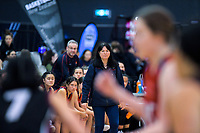 St Peter's coach Leanne Walker watches the 2019 Schick AA Girls' Secondary Schools Basketball National Championship final between St Peters School Cambridge and Hamilton Girls' High School at the Central Energy Trust Arena in Palmerston North, New Zealand on Saturday, 5 October 2019. Photo: Dave Lintott / lintottphoto.co.nz