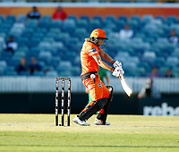 2nd November 2019; Western Australia Cricket Association Ground, Perth, Western Australia, Australia; Womens Big Bash League Cricket, Perth Scorchers versus Melbourne Stars; Meg Lanning of the Perth Scorchers misses the ball outside off stump - Editorial Use