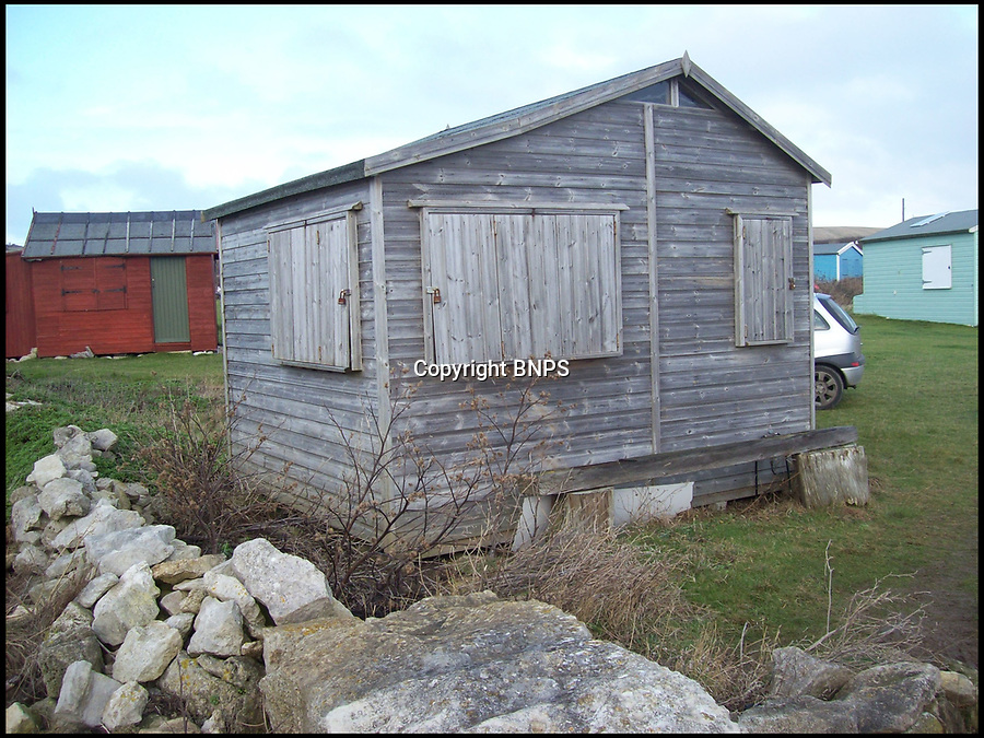 BNPS.co.uk (01202 558833)Pic: HowardLegg/BNPS<br /> <br /> Hut 18 is pictured just before is was dismantled and moved by frustrated owners.<br /> <br /> A group of of disgruntled beach hut owners are faced with a £500,000 legal bill after a failed court case against their 'unfair' landlord. <br /> <br /> The five hut owners were disputing a new tenancy agreement which gave the owner of the land they are on the right to evict them with just <br /> three months notice.<br /> <br /> Howard Legg, whose family have rented the land at Portland Bill, Dorset, to hutters for 60 years, demanded all 71 tenants sign the deal but five refused.<br /> <br /> They said the contract was illegal and it went back on a long-standing gentleman's agreement in place and took former mayor Mr Legg to court.