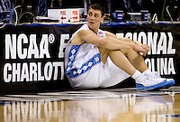 North Carolina's Tyler Hansbrough during the NCAA Basketball Men's East Regional at Time Warner Cable Arena in Charlotte, NC.
