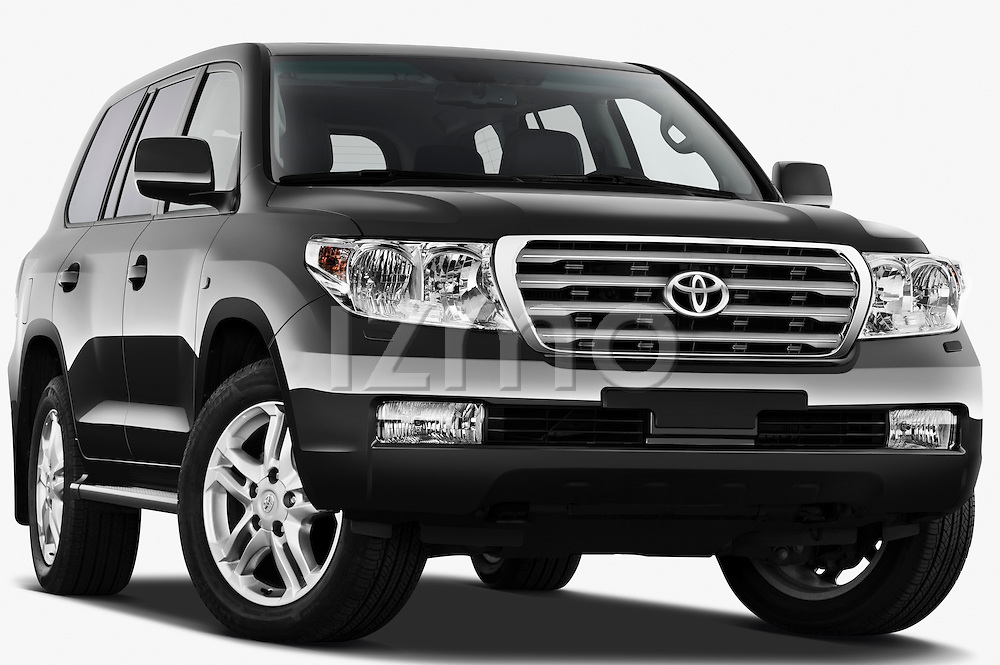 Low aggressive passenger side of 2011 Toyota Land Cruiser V8 VX SUV Stock Photo