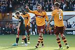 Ryan Bowman celebrates his goal for Motherwell