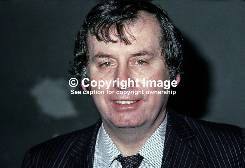 Dr Joe Hendron, Belfast, N Ireland, UK, prominent member of SDLP, Social Democratic &amp; Labour Party, Health &amp; Social Services spokesman, 198011000351g.<br /> <br /> Copyright Image from Victor Patterson,<br /> 54 Dorchester Park, <br /> Belfast, UK, BT9 <br /> <br /> t1: +44 28 9066 1296 (from Rep of Ireland 048 90661296)<br /> t2: +44 28 9002 2446 (from Rep of Ireland 048 9002 2446)<br /> <br /> m: +44 7802 353836<br /> <br /> e: victorpatterson@me.com<br /> www.victorpatterson.com<br /> <br /> Please see my Terms and Conditions of Use at www.victorpatterson.com. It is IMPORTANT that you familiarise yourself with them.<br /> <br /> Images used on the Internet must be visibly watermarked i.e. &copy; Victor Patterson<br /> within the body of the image and copyright metadata must not be deleted. Images <br /> used on the Internet have a size restriction of 4kbs and will be chargeable at current<br />  NUJ rates unless agreed otherwise.<br /> <br /> This image is only available for the use of the recipient i.e. television station, newspaper, magazine, book publisher, etc, and must not be passed on to any third party. It is also downloaded on condition that each and every usage is notified within 7 days to victorpatterson@me.com<br /> <br /> The right of Victor Patterson to be identified as the author is asserted in accordance with The Copyright Designs And Patents Act (1988). All moral rights are asserted.