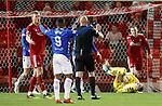 06.02.2019: Aberdeen v Rangers: Allan McGregor takes a sore one