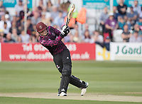 Tom Banton of Somerset CCC drives straight for four runs during Essex Eagles vs Somerset, Vitality Blast T20 Cricket at The Cloudfm County Ground on 7th August 2019