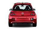 Straight rear view of a 2017 Opel Adam S 3 Door Hatchback stock images