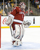John Riley (Harvard - 1) - The Boston College Eagles defeated the Harvard University Crimson 6-0 on Monday, February 1, 2010, in the first round of the 2010 Beanpot at the TD Garden in Boston, Massachusetts.