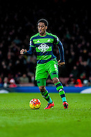 Leroy Fer of Swansea City  in action during the Barclays Premier League match between Arsenal and Swansea City at the Emirates Stadium, London, UK, Wednesday 02 March 2016