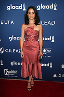 BEVERLY HILLS, CA - APRIL 12: Melissa Fumero at the 29th Annual GLAAD Media Awards at The Beverly Hilton Hotel on April 12, 2018 in Beverly Hills, California. <br /> CAP/MPIFS<br /> &copy;MPIFS/Capital Pictures