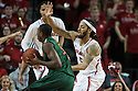 December 4, 2013: Terran Petteway (5) of the Nebraska Cornhuskers guarding Davon Reed (5) of the Miami (Fl) Hurricanes at the Pinnacle Bank Areana, Lincoln, NE. Nebraska defeated Miami 60 to 49.