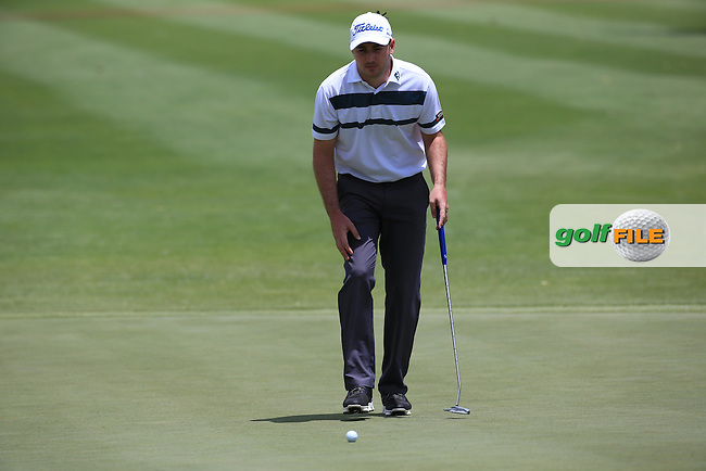 Daniel Brooks (ENG) putting at the 2nd during Round Three of the 2016 BMW SA Open hosted by City of Ekurhuleni, played at the Glendower Golf Club, Gauteng, Johannesburg, South Africa.  09/01/2016. Picture: Golffile   David Lloyd<br /> <br /> All photos usage must carry mandatory copyright credit (&copy; Golffile   David Lloyd)