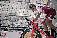 Reto Hollenstein (SUI/Katusha-Alpecin) launching himself into his race against the clock<br /> <br /> 104th Tour de France 2017<br /> Stage 20 (ITT) - Marseille &rsaquo; Marseille (23km)