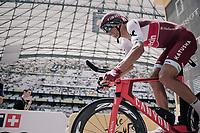 Reto Hollenstein (SUI/Katusha-Alpecin) launching himself into his race against the clock<br /> <br /> 104th Tour de France 2017<br /> Stage 20 (ITT) - Marseille › Marseille (23km)